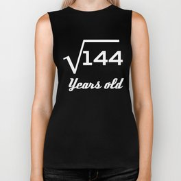 Square Root Of 144 12 Years Old Biker Tank