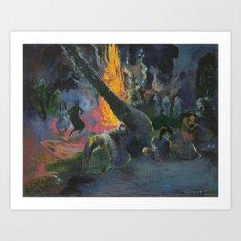Upa Upa (The Fire Dance) by Paul Gauguin Art Print