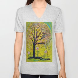 A Tree Planted by the Water Unisex V-Neck