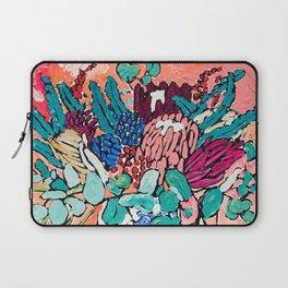 Orange Protea Bouquet Australian Wildflower Still Life Painting Laptop Sleeve