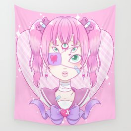 Sickly Quintclops Girl Wall Tapestry
