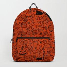 October Pattern- Black & Orange Backpack