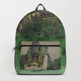 Peles Castle Romania Watercolor Backpack