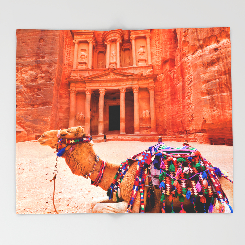 Camel Trip Couch Throw Blanket BLK7634282