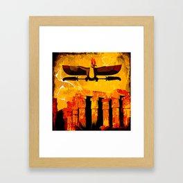 Ra, god of the sun Framed Art Print
