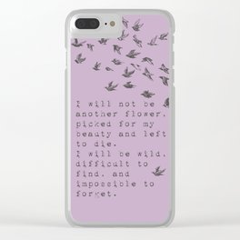 I will be wild - Van Vuren Collection Clear iPhone Case