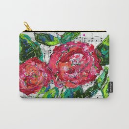 Melody - Floral - Piano notes Carry-All Pouch