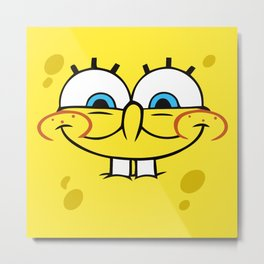 Spongebob Naughty Face Metal Print