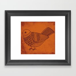 Retro Pigeon Framed Art Print