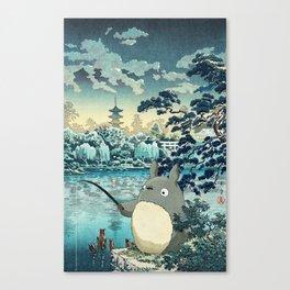 Japanese woodblock mashup Canvas Print