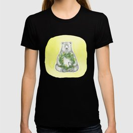 Holiday Bear with Wreath T-shirt
