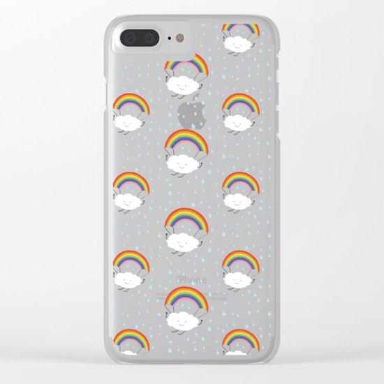 rainbow parachute Clear iPhone Case