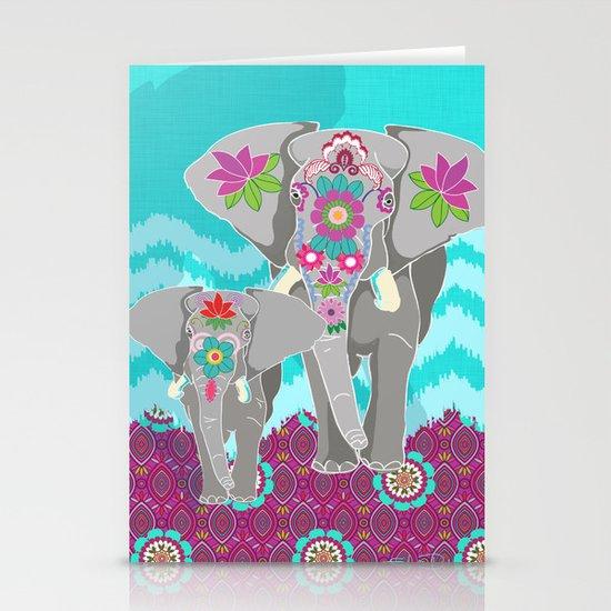 Elephant Festival Stationery Cards