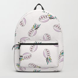 Memphis Tropical Pineapple Fruit Pattern, Seamless Vector Background Illustration Backpack