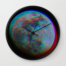 TRIPPY MOON Wall Clock