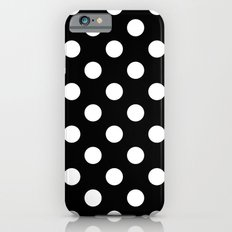 Black and Polka White Dots iPhone 6s Slim Case