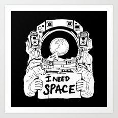 Major Spaceman Art Print