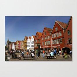 Bergen Bryggen Canvas Print