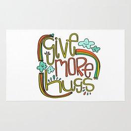 Give More Hugs Rug