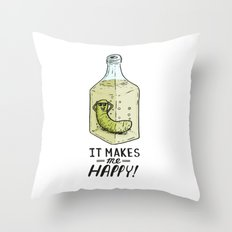 It makes me Happy! Throw Pillow