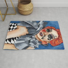 Harlequin - watercolor Rug