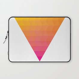 Orange Magenta Triangle Gradient Laptop Sleeve