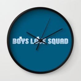 BOYS LOVE SQUAD Wall Clock