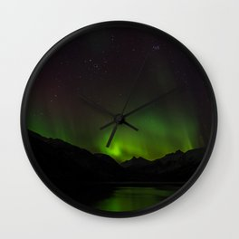 Northern Lights in Norway 01 Wall Clock