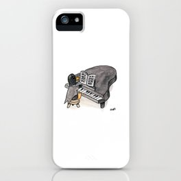 Penguin on a Baby Grand Piano iPhone Case