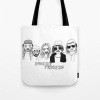 cactei Tote Bags featuring Sticky Fingers  by ☿ cactei ☿