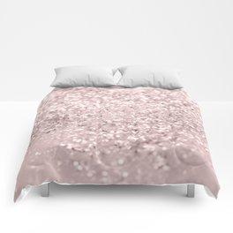 Blush Glitter Dream #1 #shiny #decor #art #society6 Comforters