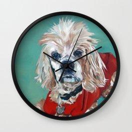 Ted the Cocker Spaniel Dog Art Wall Clock