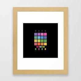 Dj Electronic Music Framed Art Print