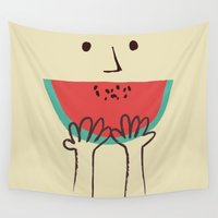 summer Wall Tapestries featuring Summer smile by Picomodi