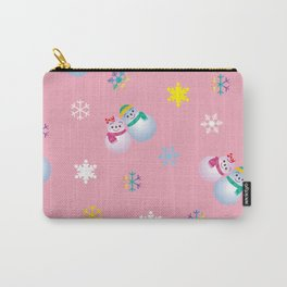 Snowflakes & Pair Snowman_B Carry-All Pouch