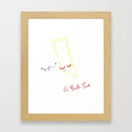 el barto triste Framed Art Print