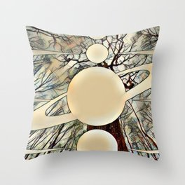 Planetary Forest Throw Pillow