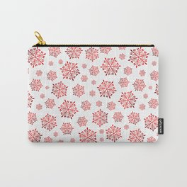 Red shiny snowflakes Carry-All Pouch