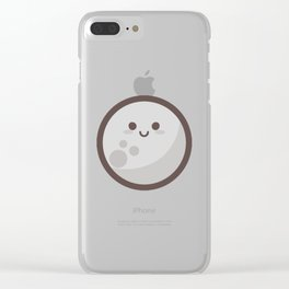 Moon Emoji Clear iPhone Case
