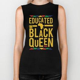Educated Black Queen Biker Tank