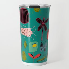 bugs and insects green Travel Mug