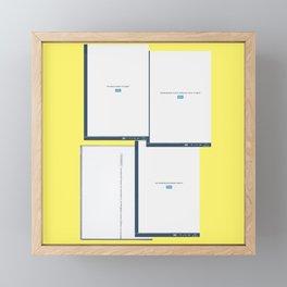 screen yellow Framed Mini Art Print