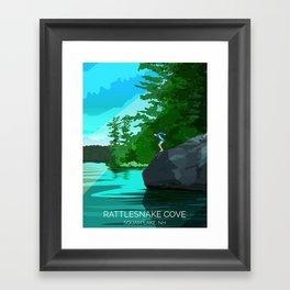 Jumping Rock on Squam Lake Framed Art Print