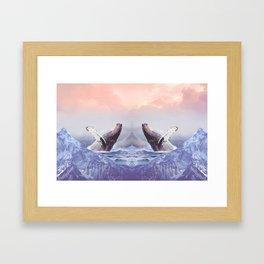 Mount Whales Framed Art Print