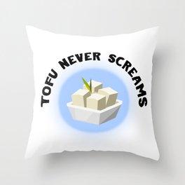 Tofu Never Screams Throw Pillow