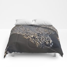 Manhattan - city map Comforters