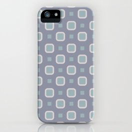 Gray Squares Tiles Pattern iPhone Case