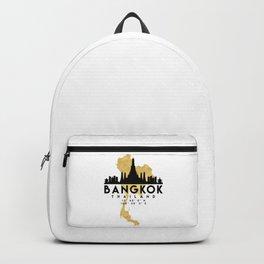 BANGKOK THAILAND SILHOUETTE SKYLINE MAP ART Backpack