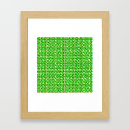 Gold horseshoes and four leaf clovers that are lucky for some Framed Art Print