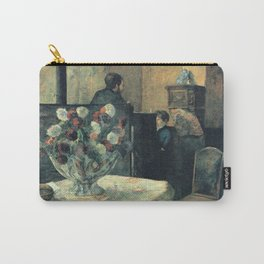 Paul Gauguin - Painting of an interior at rue Carcel, Paris (1881) Carry-All Pouch